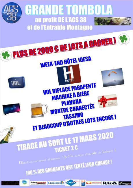 Affiche tombola AGS